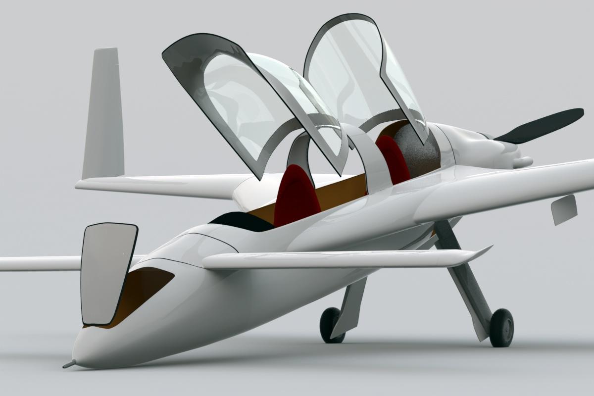 Rutan long ez berkut precision scale model