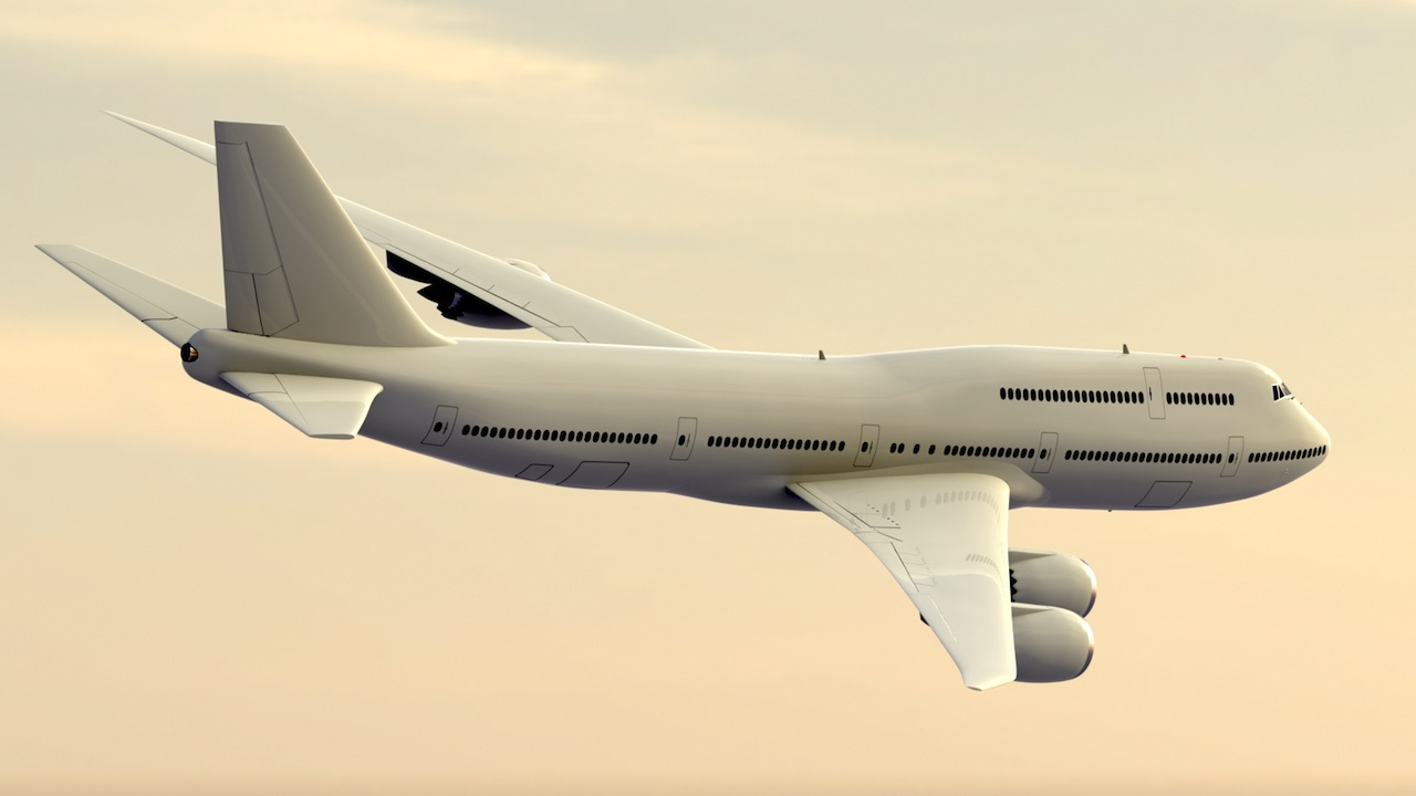 "3D model of Boeing's new 747-8 ""Intercontinental"""