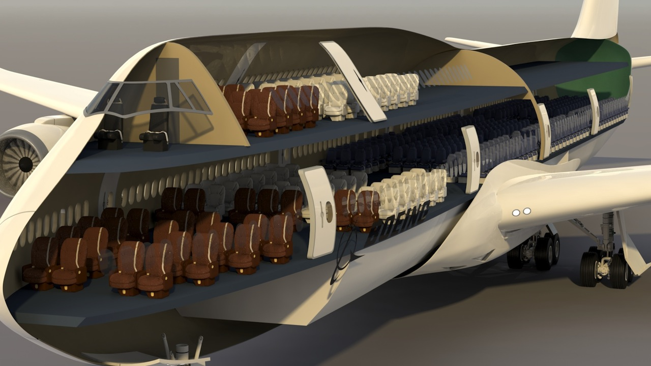 Mike james media boeing 747 8 intercontinental project for Boeing 747 8 interieur